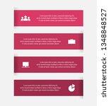 vector lines infographic.... | Shutterstock .eps vector #1348848527
