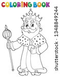 coloring book king topic 1  ...   Shutterstock .eps vector #1348849244