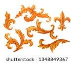 watercolor illustration set of...   Shutterstock . vector #1348849367