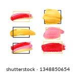 hand drawn brush stroke design... | Shutterstock . vector #1348850654