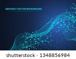 scientific molecule background... | Shutterstock .eps vector #1348856984