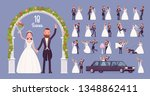 bride and groom on wedding... | Shutterstock .eps vector #1348862411