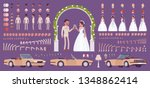 bride and groom  latin american ... | Shutterstock .eps vector #1348862414