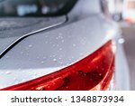 Water Droplet On The Car Hood....