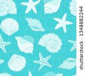 Sea Life Sea Shells Seamless...