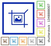 crop picture flat color icons... | Shutterstock .eps vector #1348888007