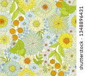 seamless floral pattern with... | Shutterstock .eps vector #1348896431