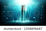 natural algae vector cosmetic... | Shutterstock .eps vector #1348898687