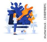 modern flat design illustration ... | Shutterstock .eps vector #1348898891