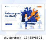 landing page template of... | Shutterstock .eps vector #1348898921