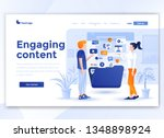 landing page template of... | Shutterstock .eps vector #1348898924
