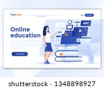 landing page template of online ... | Shutterstock .eps vector #1348898927