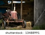 The Old Farm Tractor. An Old 40'...