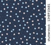 seamless pattern with stars on... | Shutterstock .eps vector #1348910681