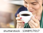 close up cropped portrait a... | Shutterstock . vector #1348917017
