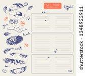 hand drawn fast food restaurant ... | Shutterstock .eps vector #1348923911