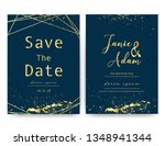 wedding invitation card  save... | Shutterstock .eps vector #1348941344