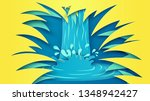 natural scenery of waterfall in ... | Shutterstock .eps vector #1348942427