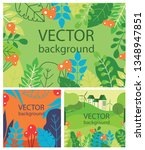 vector abstract floral herbal... | Shutterstock .eps vector #1348947851