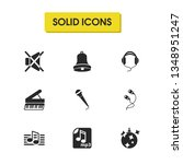 music icons set with musical... | Shutterstock .eps vector #1348951247
