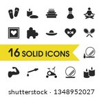 healthy icons set with candle...