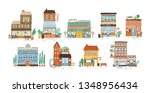 collection of stores  shops ... | Shutterstock .eps vector #1348956434