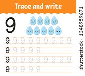 trace and write. handwriting... | Shutterstock .eps vector #1348959671
