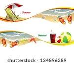 summer beach banners | Shutterstock .eps vector #134896289