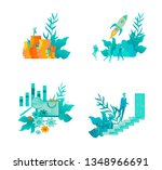 business and management icons... | Shutterstock .eps vector #1348966691
