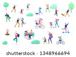 people spending time  relaxing... | Shutterstock .eps vector #1348966694
