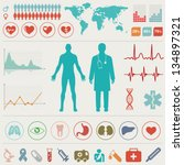 medical infographic set. vector ... | Shutterstock .eps vector #134897321