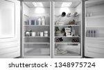 open stainless steel modern... | Shutterstock . vector #1348975724