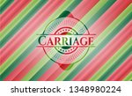 carriage christmas emblem... | Shutterstock .eps vector #1348980224