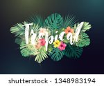 summer hawaiian vector design... | Shutterstock .eps vector #1348983194