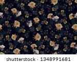 seamless rose flower texture...   Shutterstock . vector #1348991681