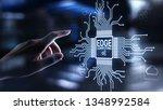 edge computing modern it...   Shutterstock . vector #1348992584