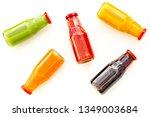 bottles with fresh carrot ...   Shutterstock . vector #1349003684