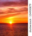 Sunset Paradise Fiery Backdrop