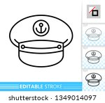 captain hat thin line icon. cap ... | Shutterstock .eps vector #1349014097