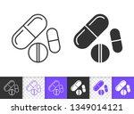 pill black linear and... | Shutterstock .eps vector #1349014121