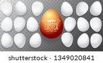 happy easter horizontal banner... | Shutterstock .eps vector #1349020841
