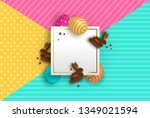 happy easter greeting card... | Shutterstock .eps vector #1349021594