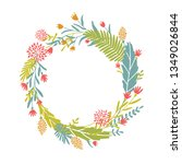 cute and elegant vector floral...   Shutterstock .eps vector #1349026844