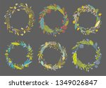 cute and elegant vector floral...   Shutterstock .eps vector #1349026847