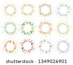 cute and elegant vector floral... | Shutterstock .eps vector #1349026901