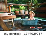 small boy with a hat and... | Shutterstock . vector #1349029757