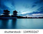 Silhouette Of Chinese Pagoda A...