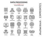 cloud computing. internet... | Shutterstock .eps vector #1349034521