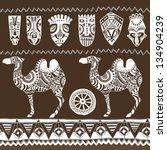 illustration vector.ethnic... | Shutterstock .eps vector #134904239