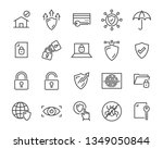 set of security icons  such as... | Shutterstock .eps vector #1349050844